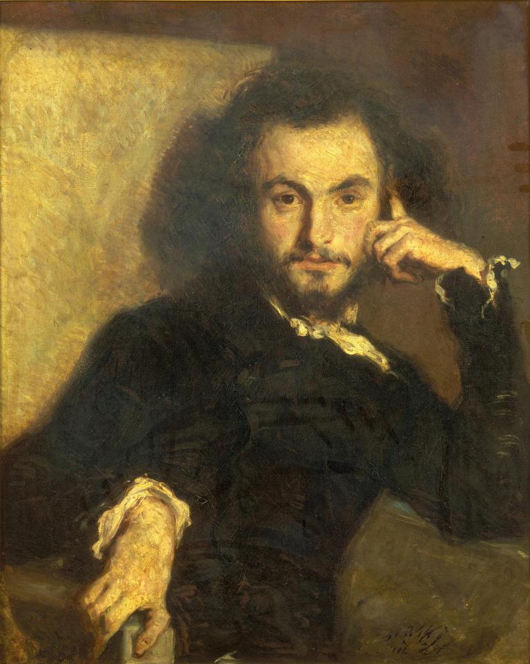 Э.Дерой. Портрет Ш.Бодлера. 1844
