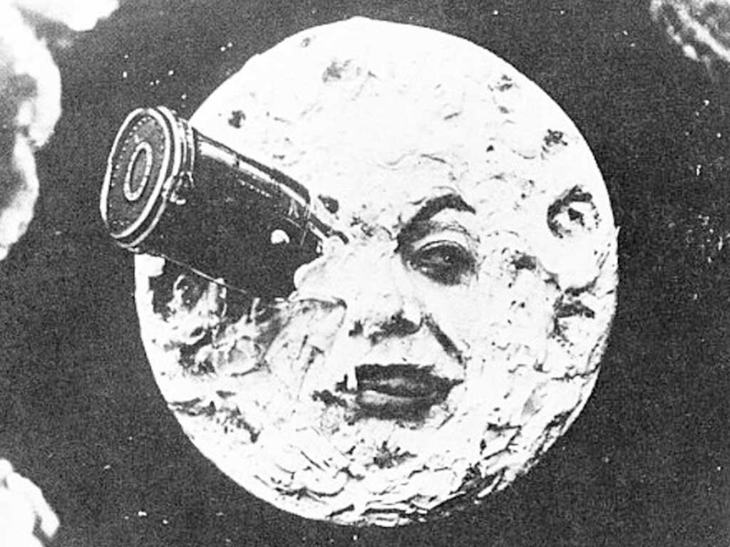 Méliès'nin Ay'a Yolculuk (1902) adlı filmi, sinema tarihindeki ilk bilim kurgu filmi olarak kabul edilir. Fotoğraf: ronaldgrantarchive